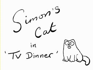 Simon's Cat in TV Dinner
