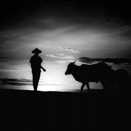 Азия в черно-белых фотографиях