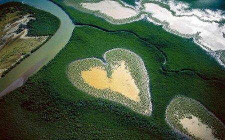 Самые красивые места на Земле в форме сердца
