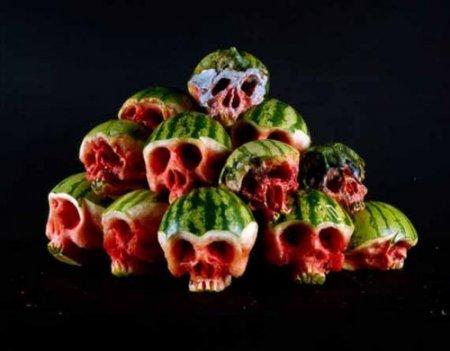 Черепушки из фруктов и овощей