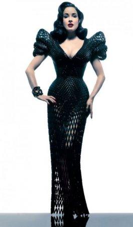 Дита фон Тиз в платье, напечатанном на 3D-принтере